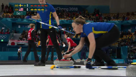 SWE v USA (Round Robin) - Women's Curling | PyeongChang 2018 Replays