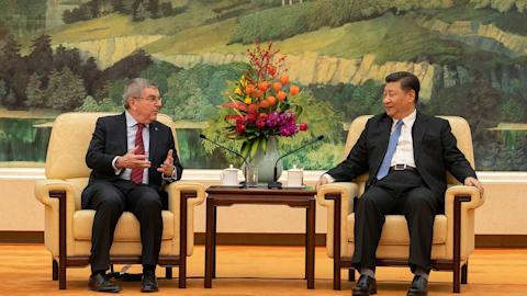 国际奥委会主席巴赫和中国国家主席习近平为2022年北京冬奥会筹备工作喝彩
