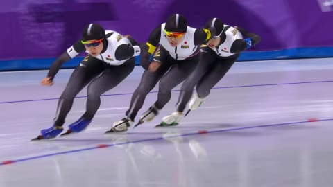 Гонка преследования, финал, женщины - конькобежный спорт   Пхенчхан-2018