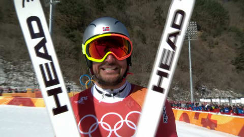 The oldest man winning gold in downhill tells his secret