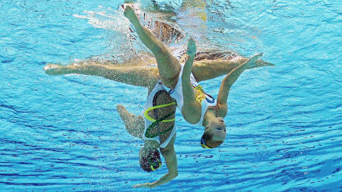 The beauty of Synchronised Swimming