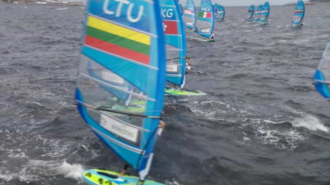 Sailing @ Rio 2016 - Outside of the bay - Men's RS:X Race 8
