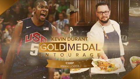 Kevin Durant, ce gourmand – avec le chef cuisinier Ryan Lopez