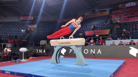 WATCH: Max Whitlock's pommel horse practice at podium training