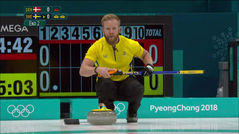 DEN v SWE (Round Robin) - Men's Curling | PyeongChang 2018 Replays