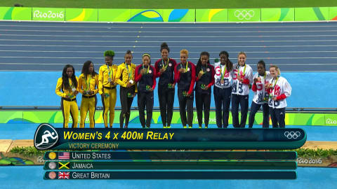 Sixth gold in Women's 4x400 Relay for the USA