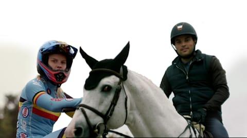 Sports Swap: BMX против конного спорта с Элке Ванхоф и Даниэлем Блуманом
