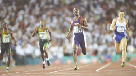 Atlanta 1996 - Johnson wins the 400m final