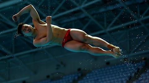 3м, полуфинал, мужчины | Прыжки в воду - Чемпионат мира FINA - Кванджу