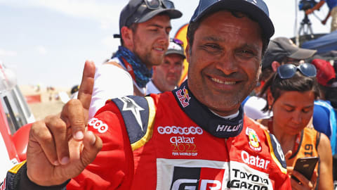 Dakar rally champ and Olympian Nasser Al-Attiyah going for a dream double