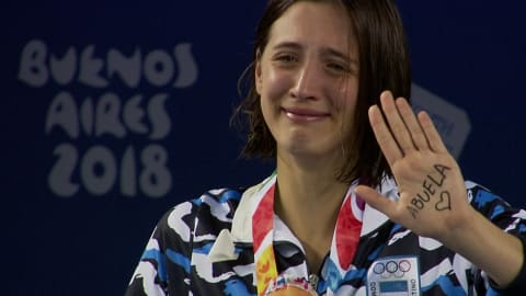 Argentine cries for her grandmother
