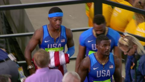 United States nightmare final in the Men's 4x100