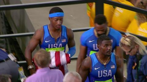 Cauchemar pour les États-Unis en finale du 4x100 m