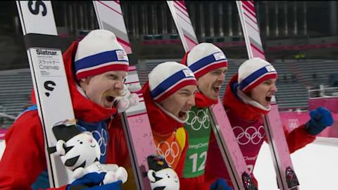 남자 팀 - 스키점프 | 평창 2018 하이라이트
