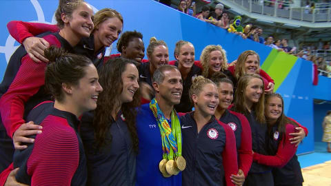 Coach honoured by USA water polo team