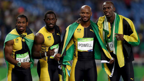 Rio 2016 - Jamaica win the 4x100m relay men