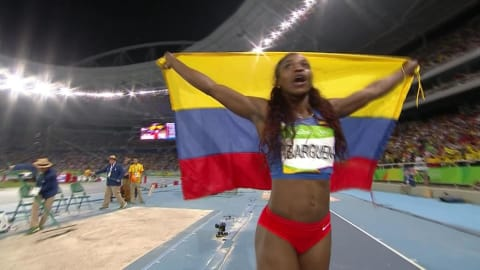 Ibarguen sacrée en or sur triple saut femmes