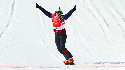 Czech Republic's Sampova grabs gold in snowboard cross