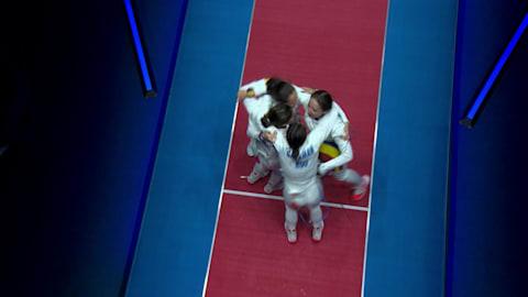 Primera medalla para el equipo femenino rumano de esgrima