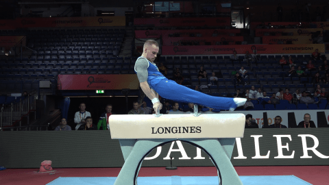 WATCH: Oleg Verniaiev on pommel horse in podium training