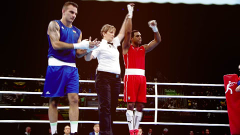 Boxing knockdowns at Rio 2016