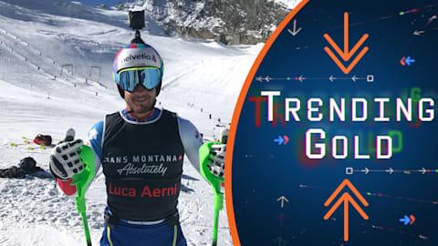 Trending Gold: 스위스 루카 애르니의 무대 뒤 모습
