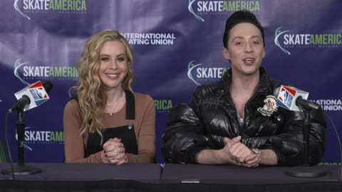 EXCLUSIF: Tara Lipinski et Johnny Weir évoquent leur saison 2018 de patinage