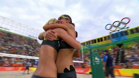 女子沙滩排球德国队淘汰东道主