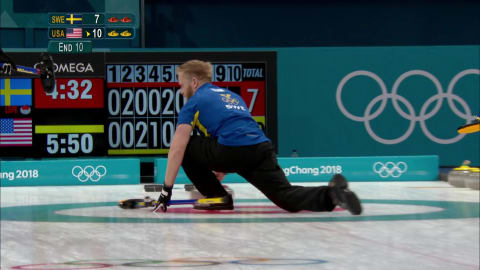 Edin makes a curling spin-o-rama in Sweden's last shot