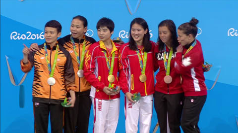 Chinese pair win Women's Synchronised Diving 10m gold