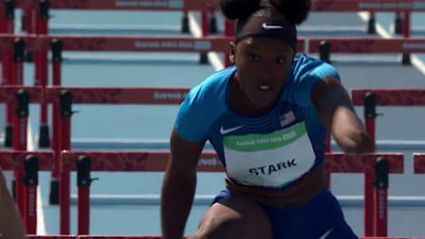 La vainqueur du 100m haies des JOJ: