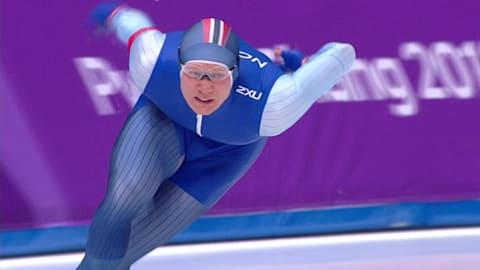 ロレンセン、オリンピック新記録で男子500mの王者に   スピードスケート