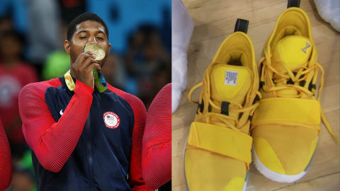 What will Paul George do with his shoes?