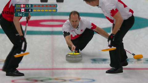 DEN v CAN (Round Robin) - Men's Curling | PyeongChang 2018 Replays