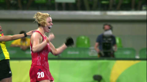 Gold for Great Britain in Women's Hockey