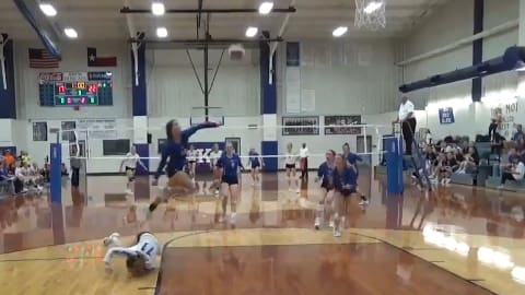 This volleyball super save is a must watch!