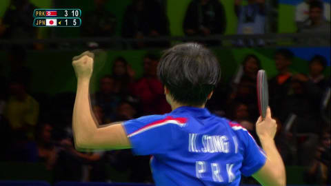 Bronze como presente de aniversário para Kim no tênis de mesa