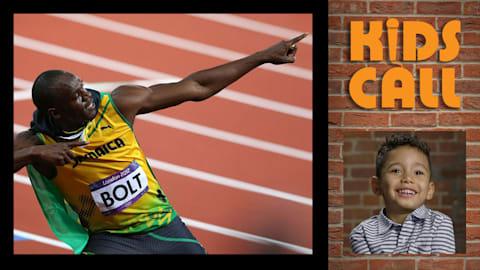 Des enfants commentent la prestation d'Usain Bolt aux JO 2012 de Londres