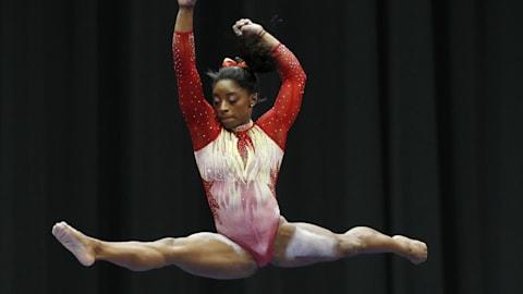 Simone Biles, wieder an der Spitze des U.S. Classic