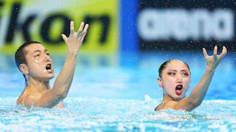世界水泳・韓国大会9日目:安部篤史・足立夢実ペアが混合デュエットFRでも銅メダルを獲得!