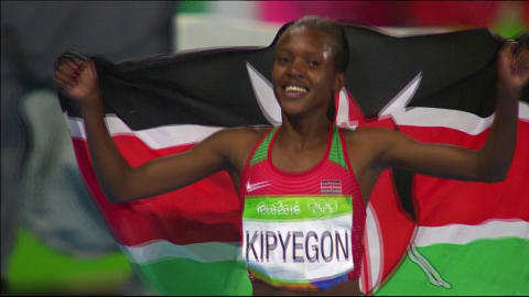 Kipyegon takes gold in Women's 1500m final