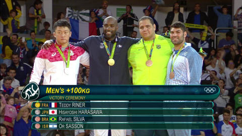Il judoka Sasson vince il bronzo nella categoria pesi massimi