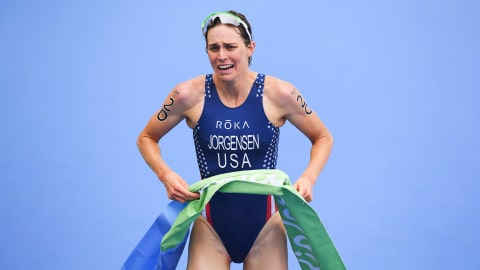 Jorgensen wins Triathlon gold