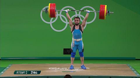 Kazahkstan's Rahimov secures Weightlifting gold