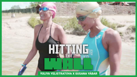 Olympian Yuliya Yelistratova gives @SusanaYabar her first taste of triathlon