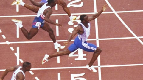 バルセロナ1992 - クリスティが100m決勝で優勝