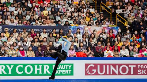 世界フィギュアスケート選手権、男子SP唯一100点超えのネイサン・チェンが首位...羽生は3位、宇野6位、田中19位