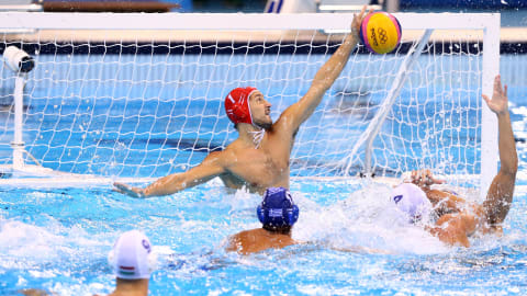 Men's 5-8 A - SRB v GER   Water Polo - FINA World Championships - Gwangju