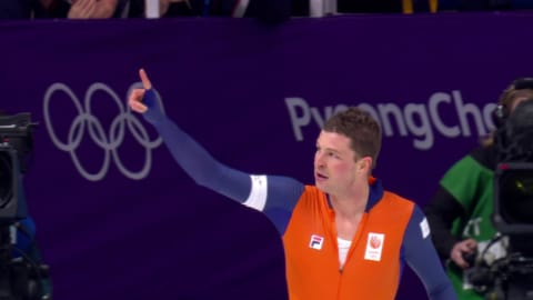 Dutch hero Kramer posts Olympic Record in the Men's 5000m | Speed Skating