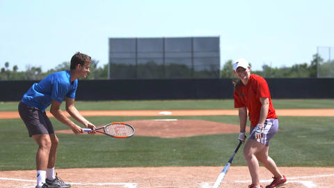 Sports Swap: Tennis vs Softball with Vasek Pospisil & Haylie McCleney